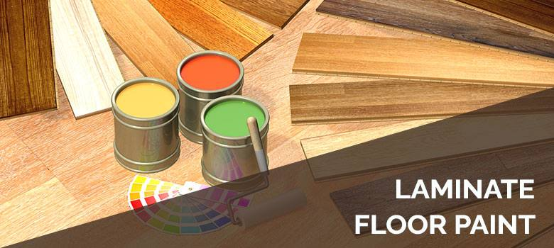 Laminate floor paint
