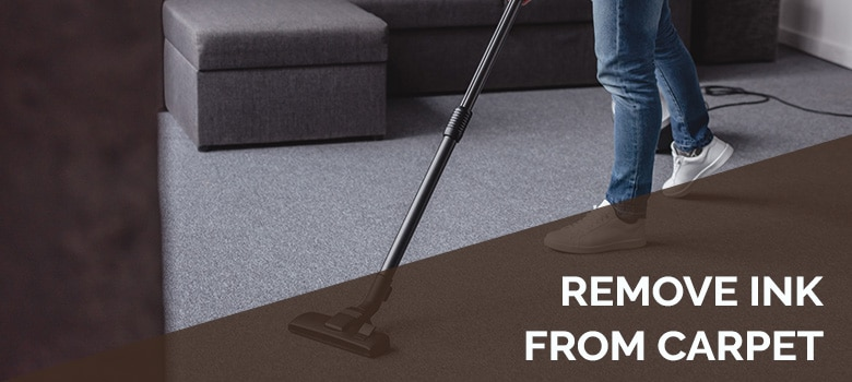 remove ink from carpet