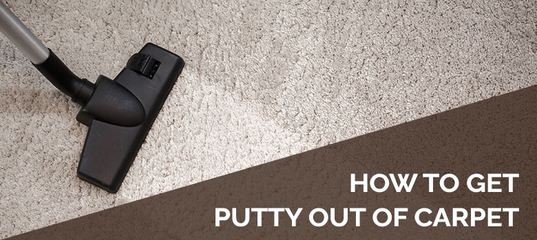 How to get putty out of carpet